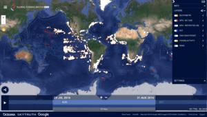Global Fishing Watch: pantalla