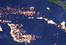 buques pesqueros chinos en el mar de Ecuador